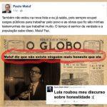 """Lula afanou até em discurso de Maluf sobre """"ninguém mais honesto"""" que ele"""
