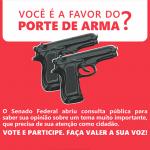 VOTE: Você é a favor do Porte de Armas? Senado abre consulta pública